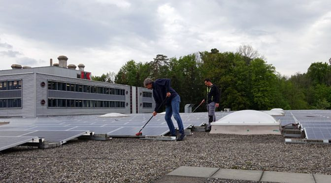 Watung der Photovoltaikanlage