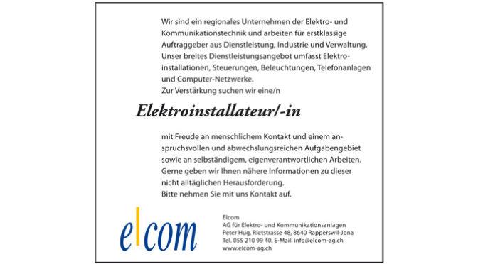 Gesucht Elektroinstallateur/-in
